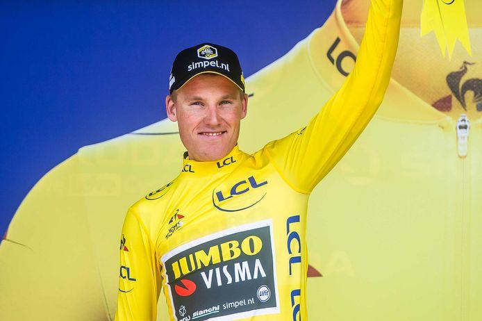 De Rosmalense Limburger Mike Teunissen droeg vorig jaar nog de gele trui in de Tour.