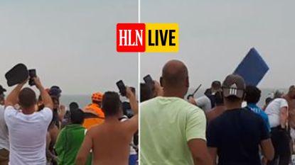 Hallucinante beelden tonen hoe jongeren agenten aanvallen op strand Blankenberge