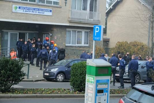 De nombreux policiers étaient présents sur place.