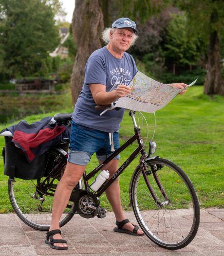 Herman heeft genderdysforie en fietste als stil protest naar Parijs en terug, op een damesfiets