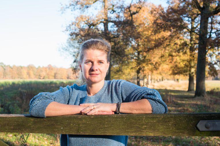 Klaudi Asbreuk in haar 'praktijkruimte'.