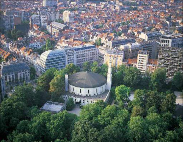 De Grote Moskee van Brussel in het Jubelpark.