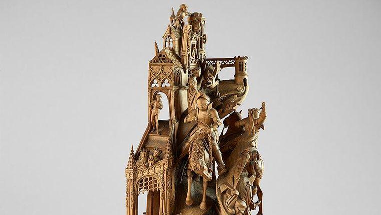 Scènes uit de legende van St Joris en de draak. Beeld Craig Boyko