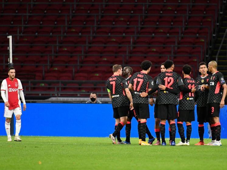 Ajax door eigen goal Tagliafico op achterstand tegen Liverpool
