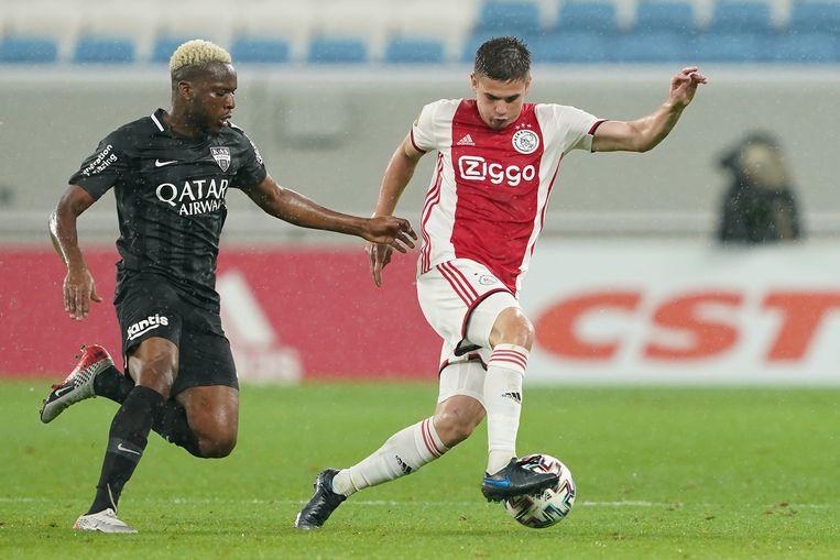 De Roemeen Razvan Marin wist sinds zijn komst naar Ajax nog niet te overtuigen. Beeld BSR Agency