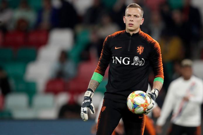 Marco Bizot voor de interland Wit Rusland - Nederland vorige maand in Minsk.