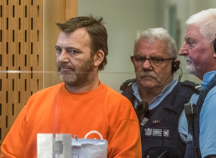 Philip Arps tijdens zijn rechtszaak in Christchurch.