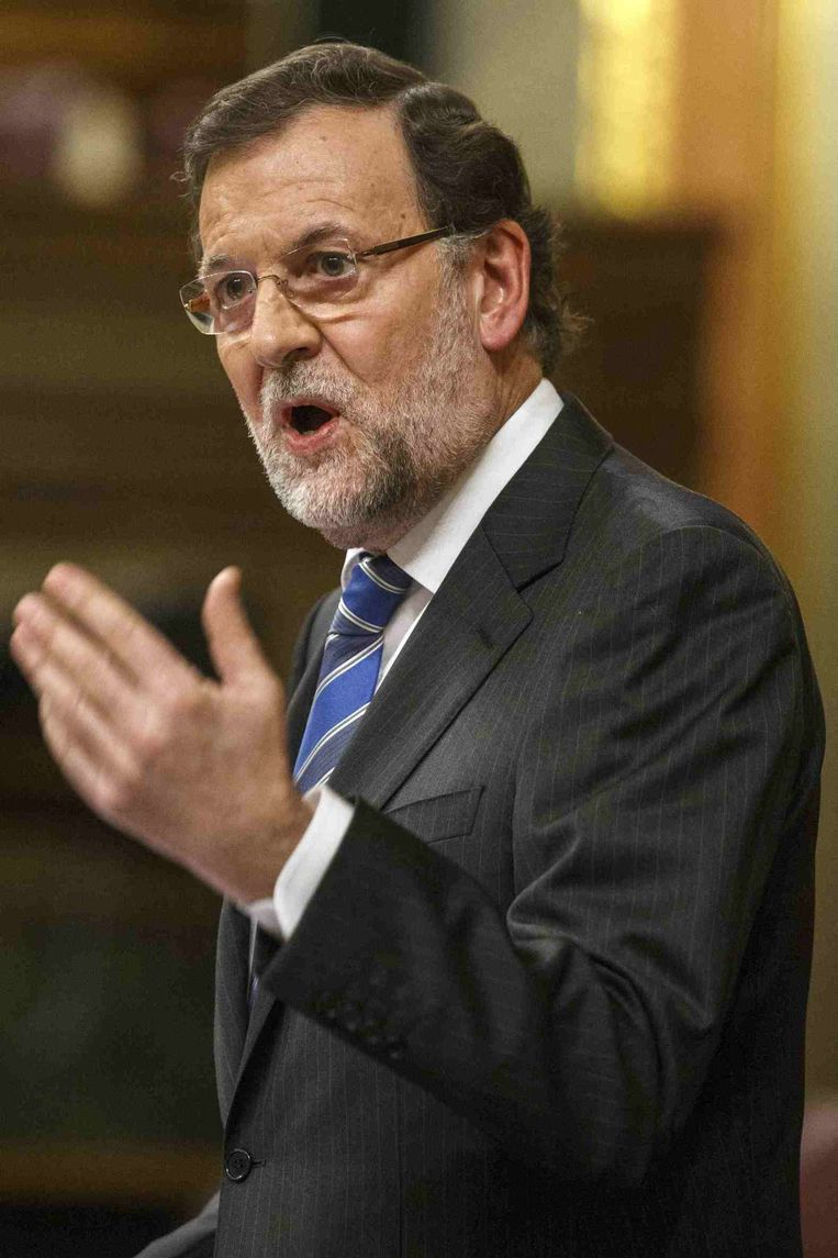 Spaanse premier Mariano Rajoy. Beeld reuters