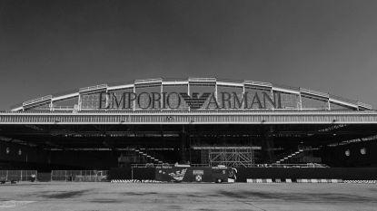 Emporio Armani toont nieuwe collectie in de luchthaven van Milaan