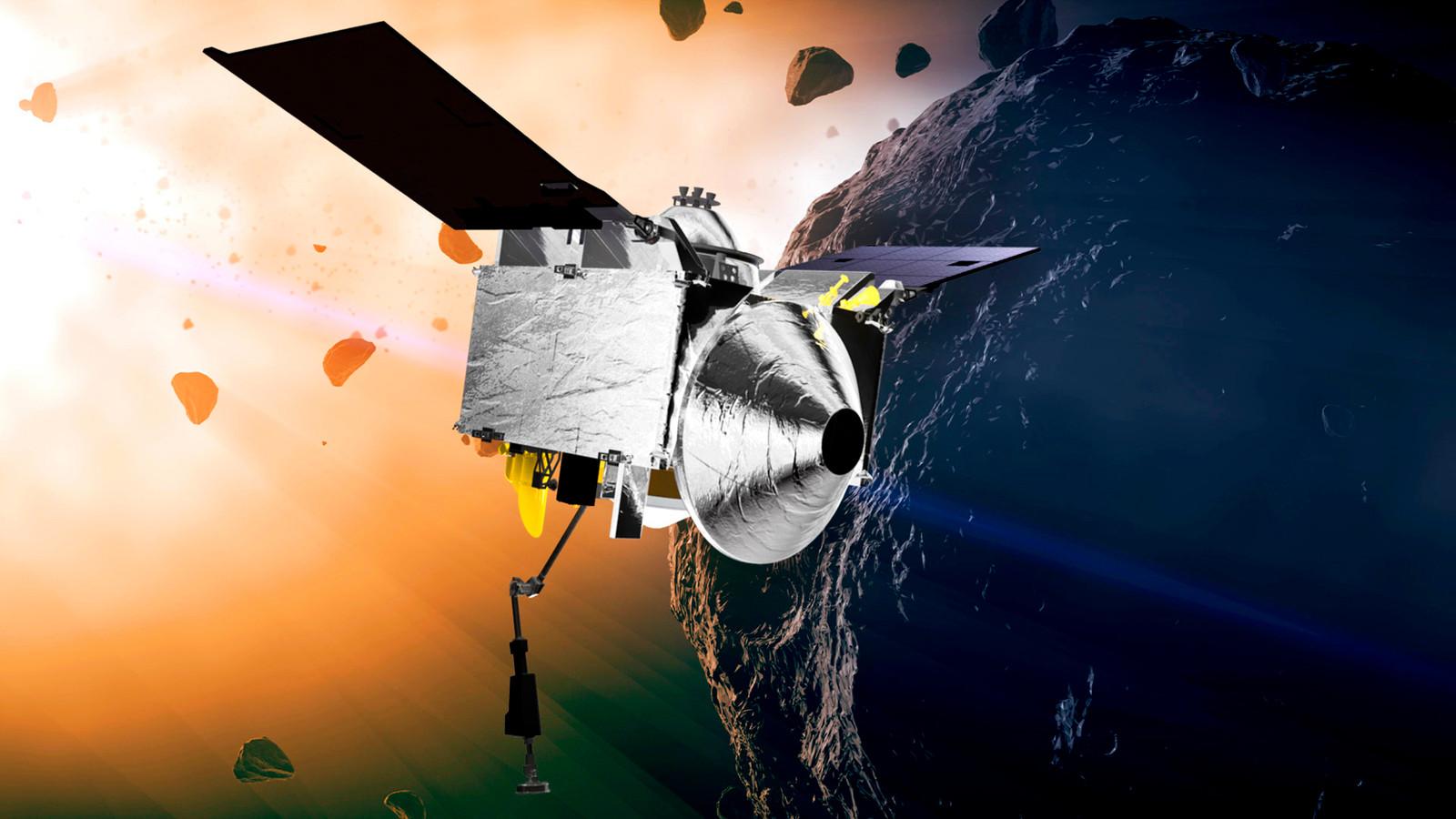 Osiris-Rex cirkelt sinds eind vorig jaar om de asteroïde Bennu.