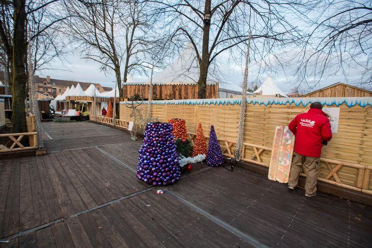 Ook de kerstbomen en de decoratie verdwijnen langzaam maar zeker.