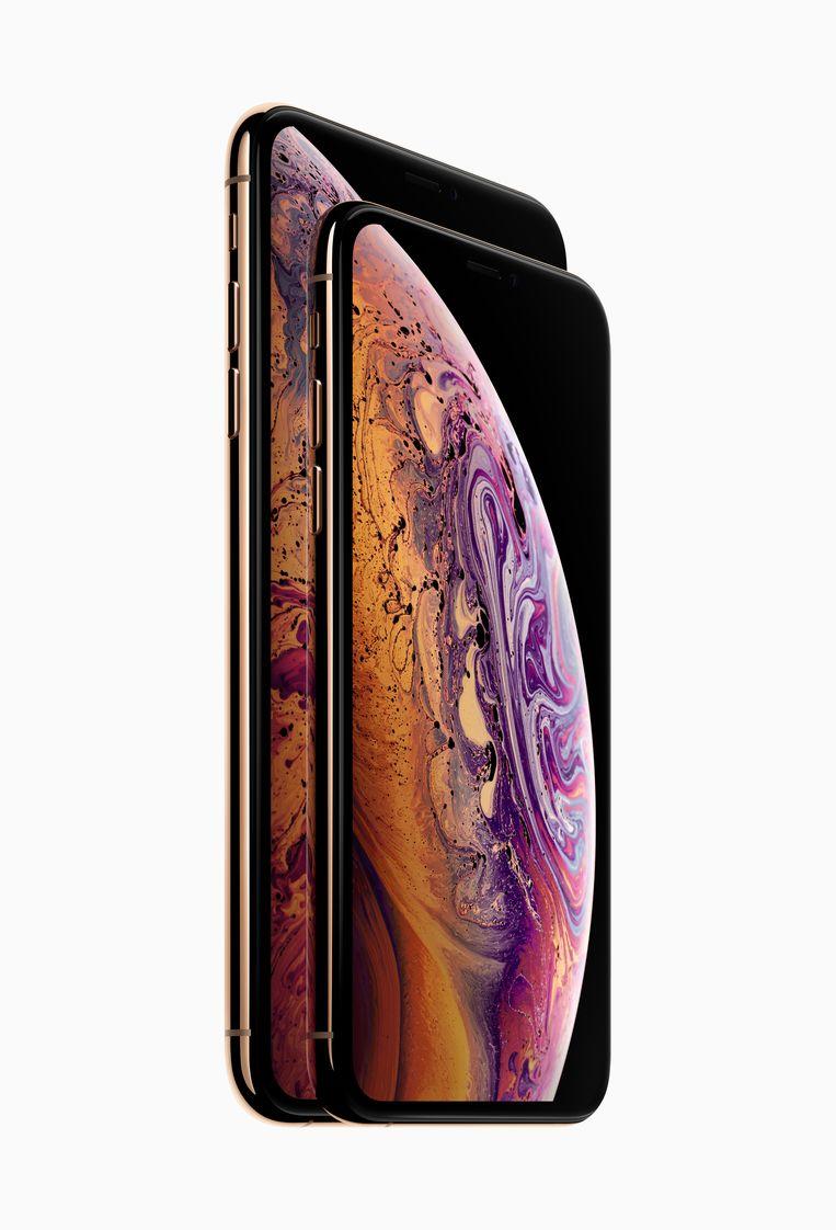 De iPhone Xs en de iPhone Xs Max Beeld Apple