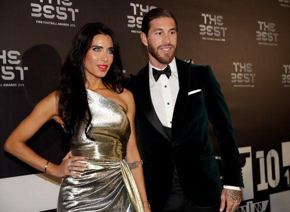 Sergio Ramos en vriendin Pilar Rubio