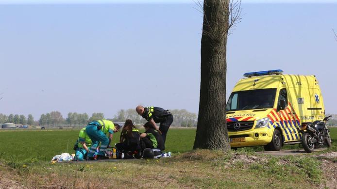 Ongeval op de Gementweg in Cromvoirt.