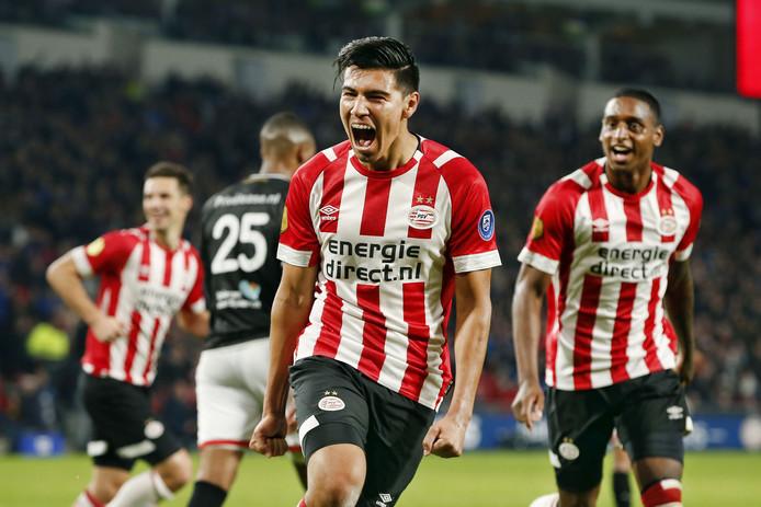 Érick Gutiérrez scoorde eerder dit seizoen tegen FC Emmen, dat in het Philips Stadion een pak slaag kreeg (6-0).