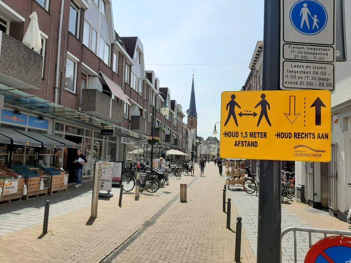 Een waarschuwingsbord in de Arkelstraat.
