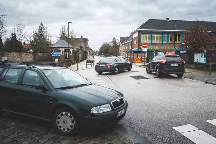 De Oude Abdijstraat in Drongen veranderde van rijrichting