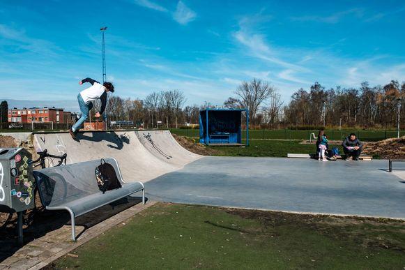 Het skatepark in Hemiksel.