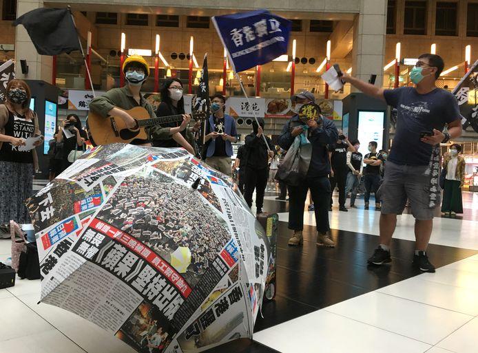 Eerste protesten na de aankondiging van de veiligheidswet