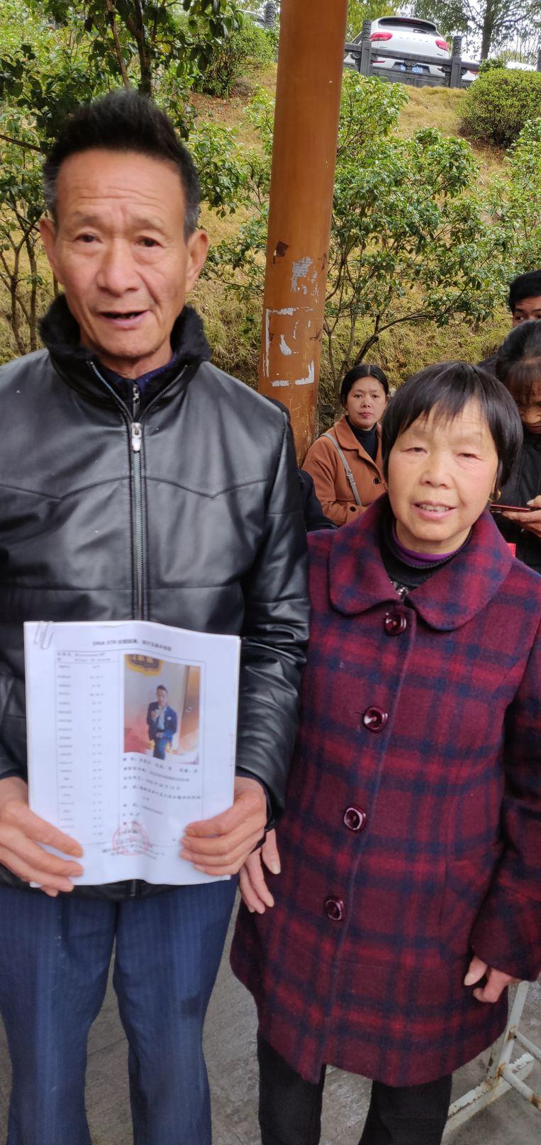 Ye Yunfeng en zijn vrouw Beeld Eefje Rammeloo