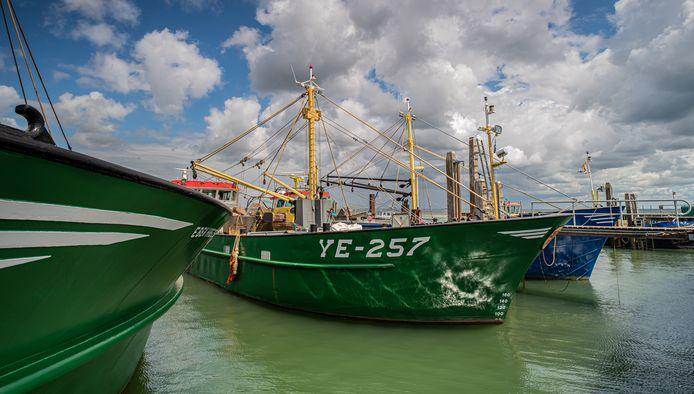 KOTTERS Op een mooie winderige dag in juli is de bemanning druk in de weer met onderhoud van de mosselkotter in de mosselhaven van Yerseke.