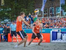Nederland - Duitsland in het Apeldoornse beachstadion