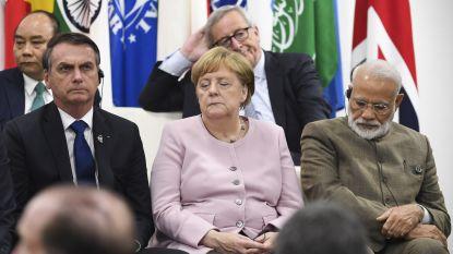 """Angela Merkel nadat ze opnieuw begon te beven: """"Ik ben in orde"""""""