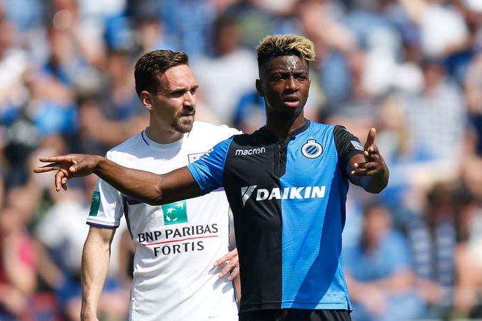 Abdoulay Diaby in het shirt van Club Brugge.