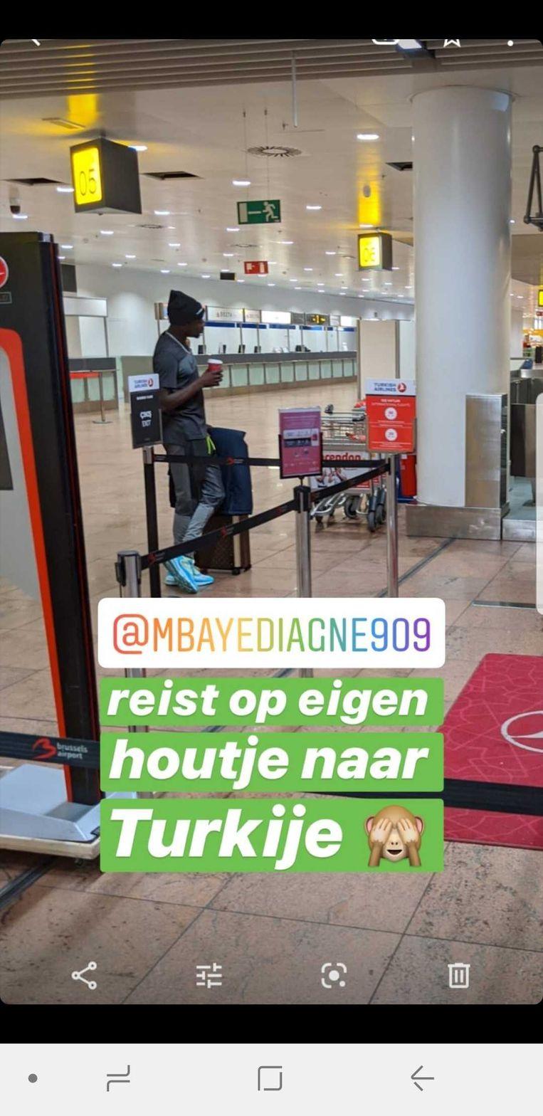 Mbaye Diagne gesignaleerd op Zaventem.