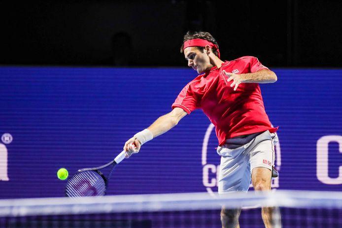 Roger Federer won wel zijn openingspartij.