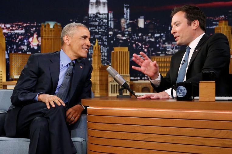 'The Tonight Show'-presentator Jimmy Fallon ontving onder andere voormalige president Barack Obama.