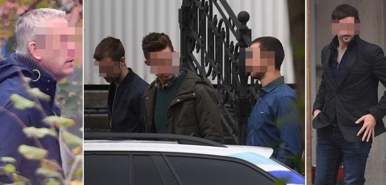 Wieland V., Bram J., de broers Joachim en Michael D. en Olivier D., de aanstoker volgens het parket.