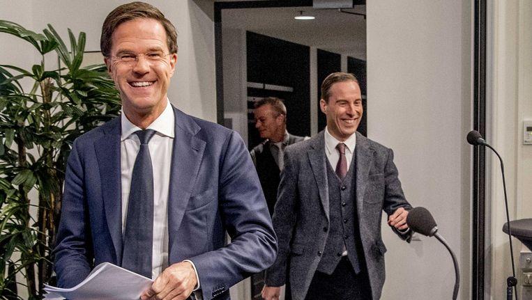 Mark Rutte na afloop van de wekelijkse ministerraad. Beeld anp