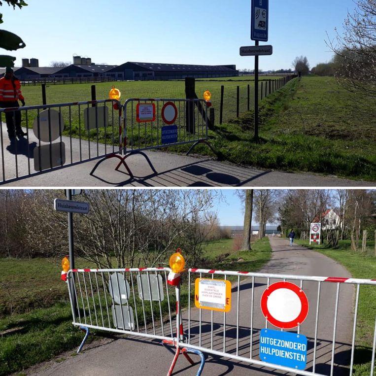 Ook in Wuustwezel werden de hekken geplaatst.