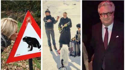Vandaag op Instagram: liefde op een verkeersbord, goede raad voor prins Laurent en muziek op de skipiste
