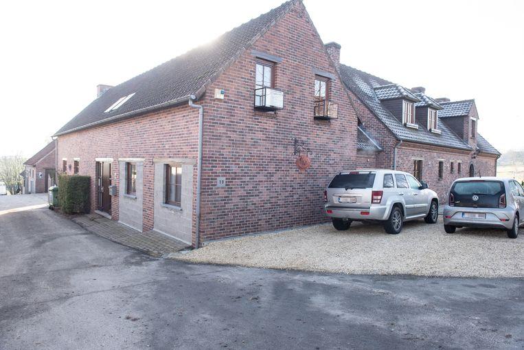 Het huis waar de man is aangetroffen.