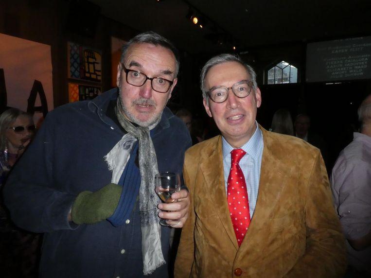 Oud advocaat Hendrik van de Roemer: 'Hans is een icoon.' Met Rob Labadie (Momentum Capital). Beeld Hans van der Beek