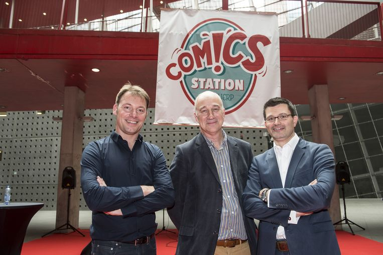 Initiatiefnemers Jeroen Jespers, Wim Hubrechtsen en Mark Kiekens.