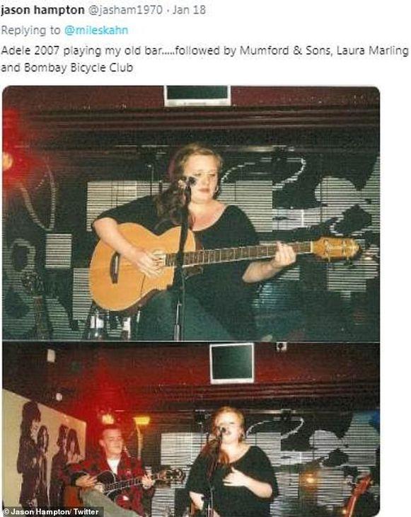 Adele speelde in dezelfde bar, waar ook Mumford And Sons speelde voor de groep doorbrak.