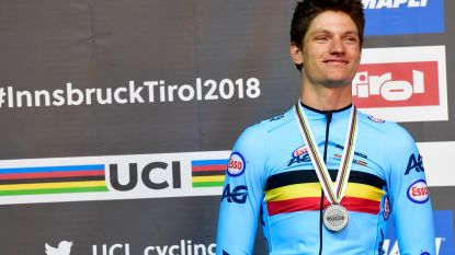 """Brent Van Moer verrast met zilveren medaille in WK-tijdrit beloften: """"Getoond dat een snelle start niet altijd belangrijk is"""""""