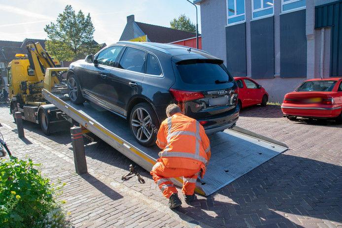 Aan De Kuil in Oisterwijk werd vrijdag een Audi in beslag genomen tijdens de veegweek.