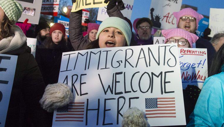 Miljoenen mensen trokken de straat op om tegen het migratiebeleid van Trump te protesteren.