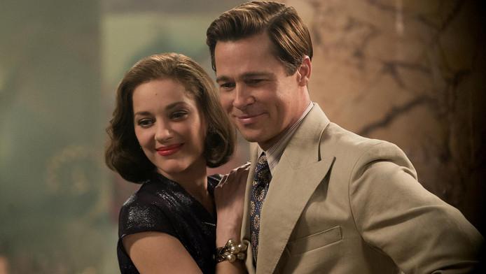 Brad Pitt en Marion Cotillard in Allied.