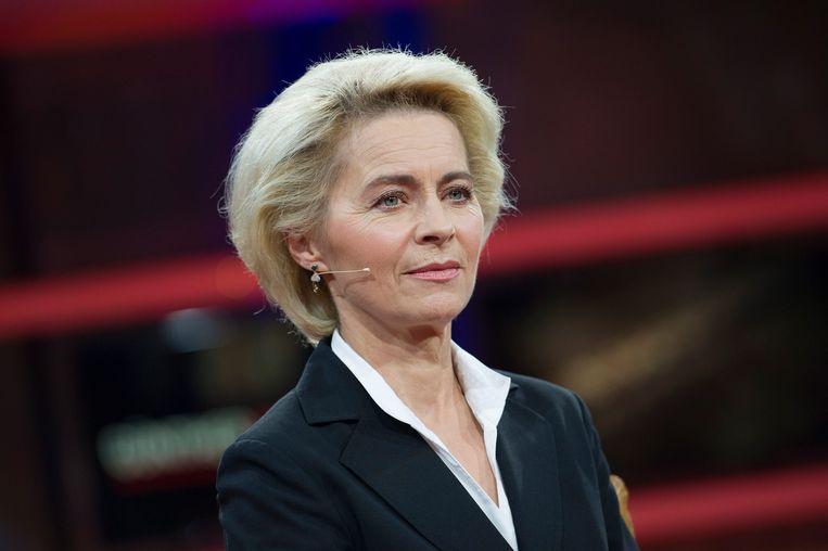 De Duitse minister van Defensie Ursula von der Leyen. Beeld EPA