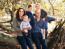Schattig: prins William met gezin op kerstkiekje