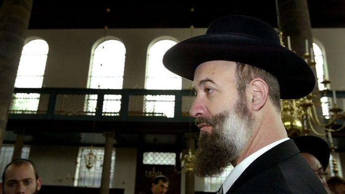 De Israelische opperrabbijn Jona Metzger