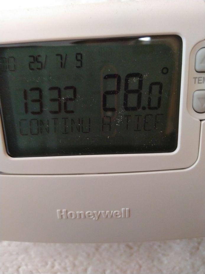 Bij Marjo Goelema in Woudrichem is het 28 graden.