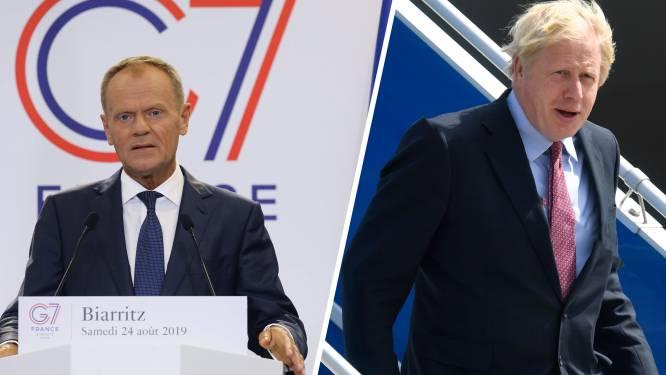 Wie wordt 'Mister No Deal'? Tusk en Johnson schuiven zwarte brexitpiet al preventief naar elkaar door
