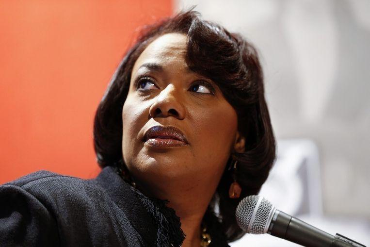 Bernice King is CEO van het gedenkcentrum voor haar vader in Atlanta, maar haar broers beheren de nalatenschap. Beeld epa