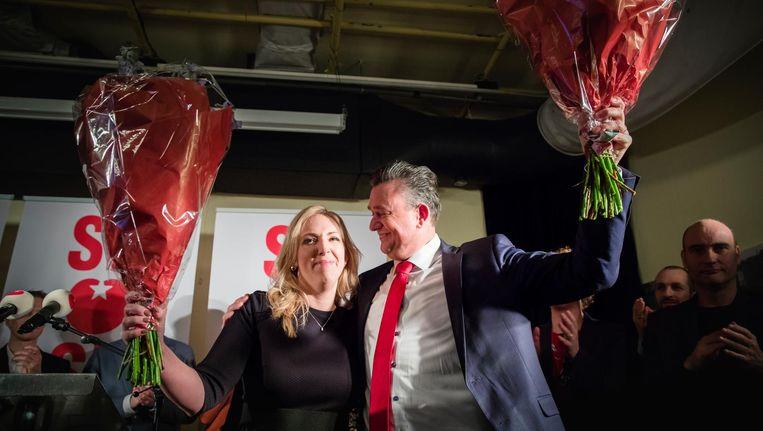 Lilian Marijnissen en Emile Roemer bij hun persconferentie in Den Haag Beeld ANP